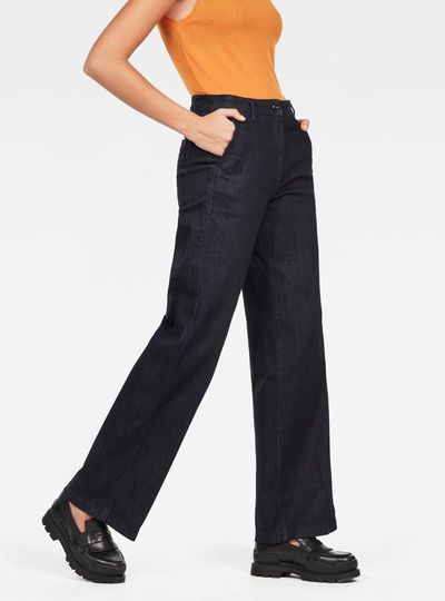 Bronson High Waist Wide Leg 7/8 Pants