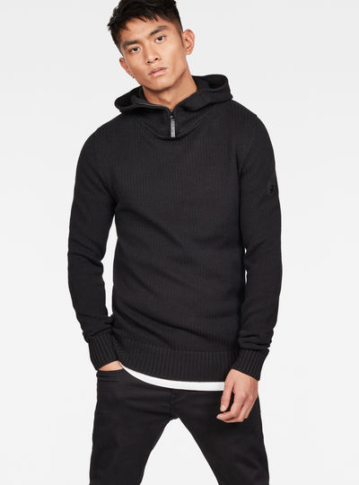 Omohundro Hooded Zip Knit