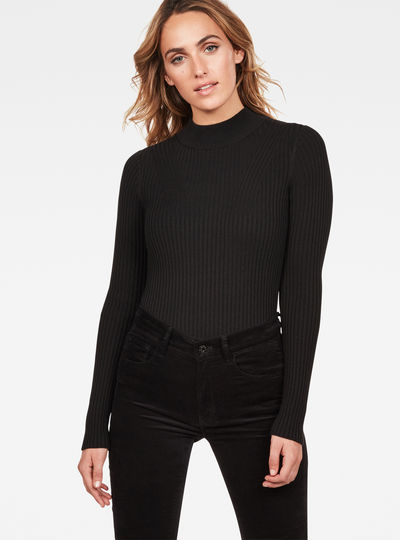 Lynn Mock Turtle Knit