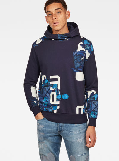 Graphic Shield 1 Core Hooded Sweater