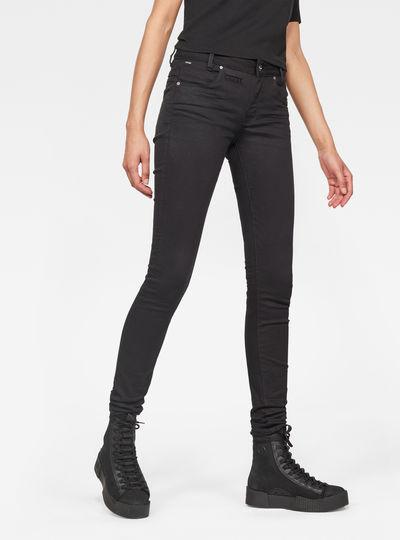 D-Staq 5-Pocket Mid Skinny Jeans
