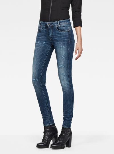 D-Staq 5-Pocket Mid-Waist Skinny Jeans
