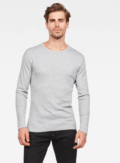 Basic Round Neck Long Sleeve T-Shirt