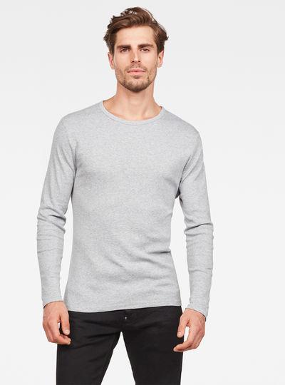 Basic Round Neck Long Sleeve T-Shirt