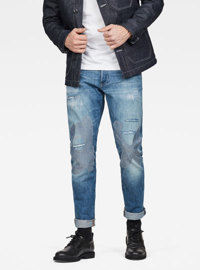 3301 Straight Tapered Restored Jeans