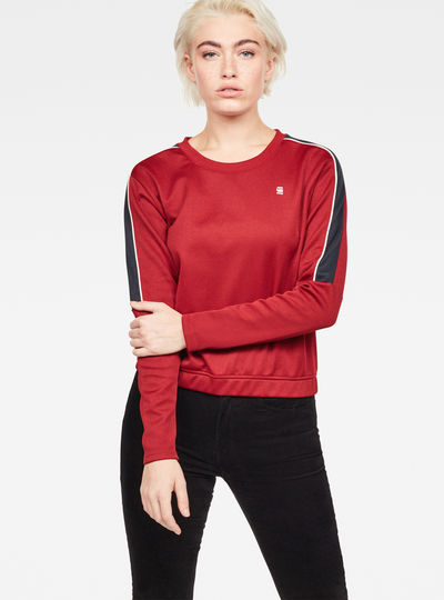 Nostelle Stripe Cropped Sweat
