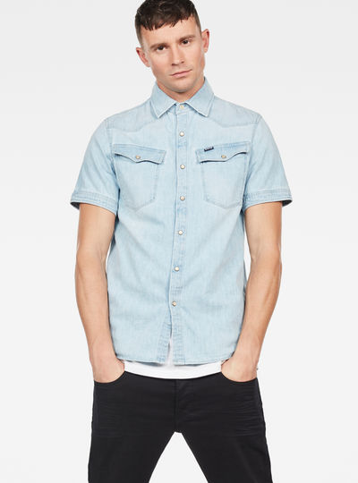 3301 Short Sleeve Straight Shirt