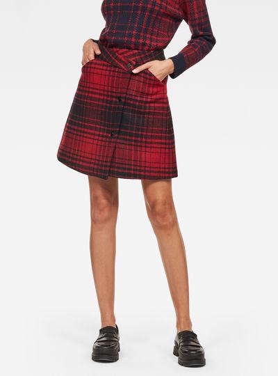 5621 Check Wrap Skirt