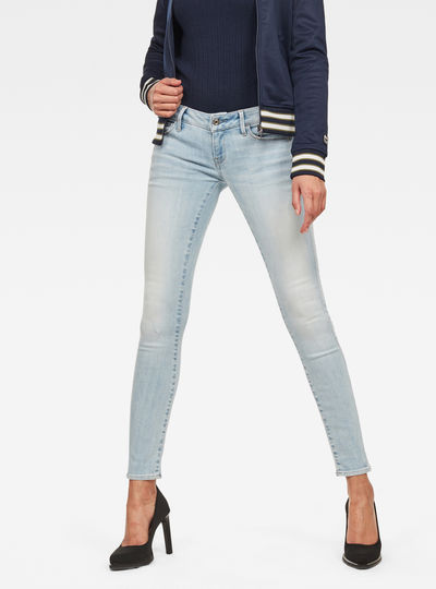 3301 Deconstructed Low Waist Skinny Jeans