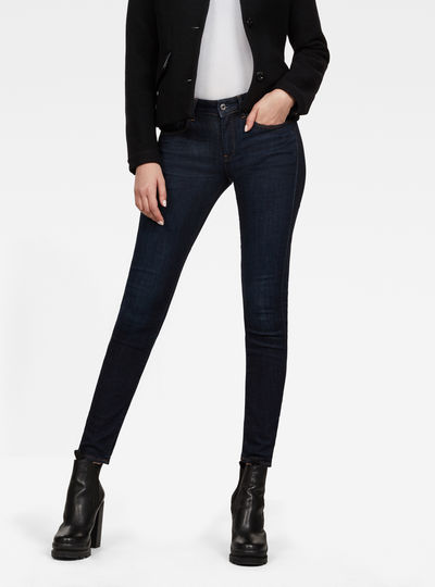 3301 Deconst Mid Waist Skinny Jeans