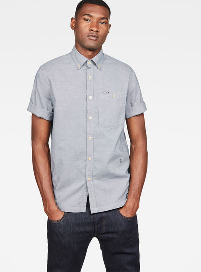 Chemise Core Button Down 1 Pocket Straight Shirt