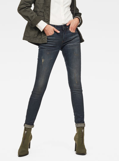 f052a2ebde12 3301 Deconstucted Mid Waist Skinny Jeans