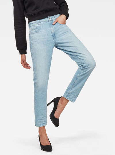 Radar Mid Waist Boyfriend Tapered Jeans
