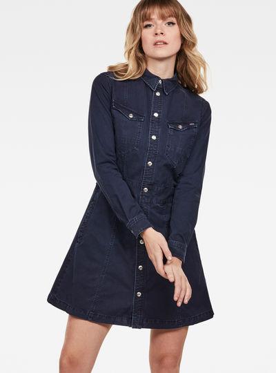 Tacoma Slim Longsleeve Flare Dress
