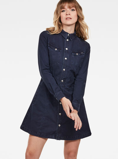Tacoma Slim Longsleeve Flare Dress