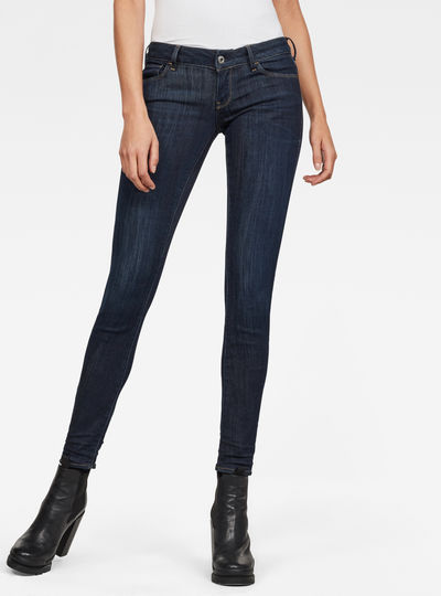3301 Deconst Low Skinny Jeans