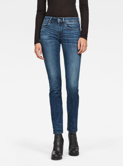 3301 Deconstructed Mid Straight Jeans