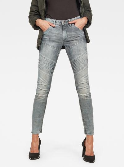 5620 G-Star Elwood Custom Mid Waist Skinny Jeans