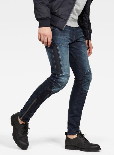 5620 G-Star Elwood 3D Ankle Zip Skinny Jeans