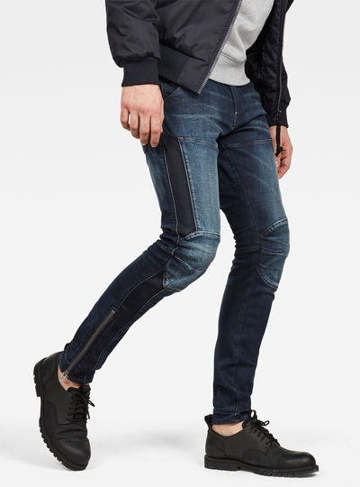 b990866a36 5620 G-Star Elwood 3D Ankle Zip Skinny Jeans
