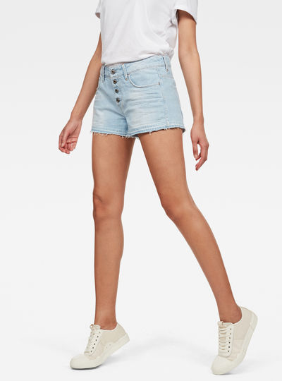 Arc Button Down Ripped Short