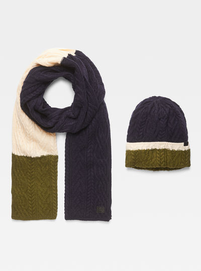 Xemy Cable Scarf Beanie Giftpack