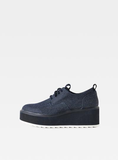 Strett Flatform Derby Denim Sneaker