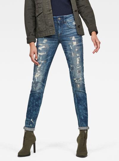 Lynn Mid Waist Skinny Restored Jeans
