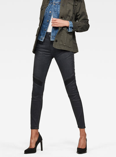 Motac-X D-3D High Waist Skinny Ankle Jeans