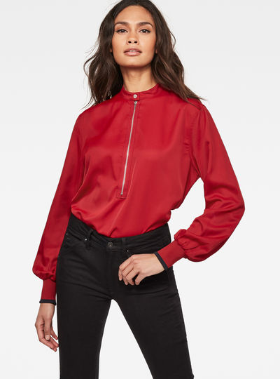 Core Zip Blouse