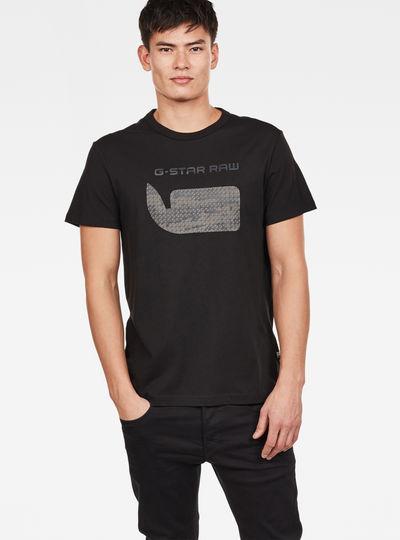 Simple Men G Star Drillon V Neck T Shirt in Sartho Blue