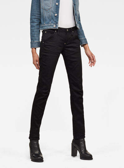 5620 G-Star Elwood Heritage Ann Embro Tapered Jeans