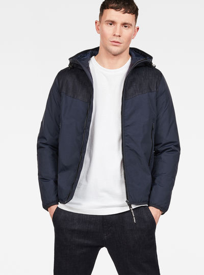 Setscale Denim Hooded Overshirt