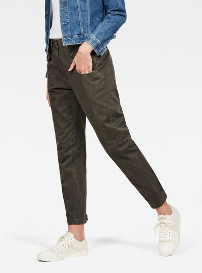 Army Radar Mid Waist Boyfriend Trousers