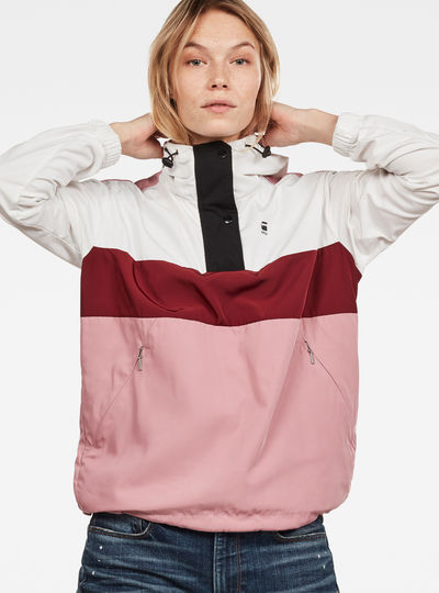 Deline Color Block Anorak