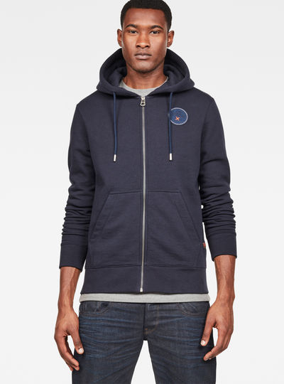 MAXRAW I Core Hooded Zip Through Sweat