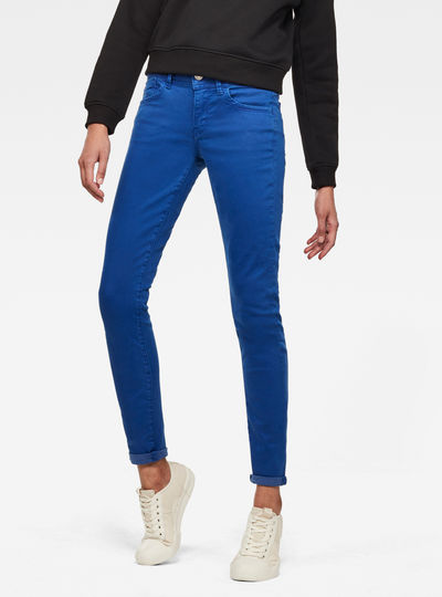 Lynn Mid Waist Skinny Colored Jeans