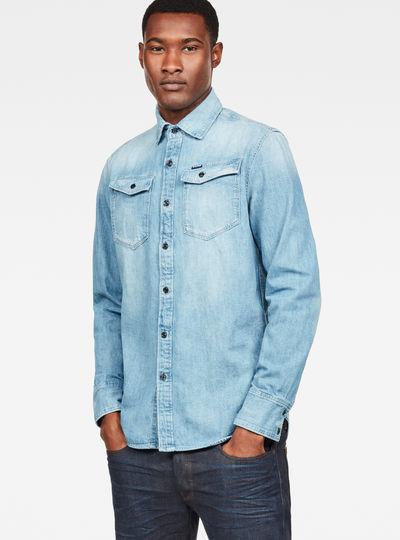 Maat Overhemd Man.Overhemden Heren Just The Product Heren G Star Raw