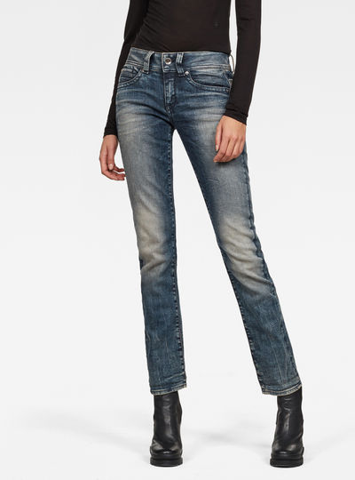 Midge Saddle Mid Straight Jeans