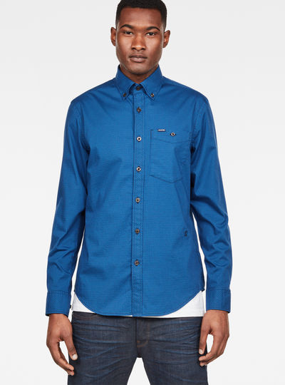 Core Button Down 1 Pocket Slim Shirt