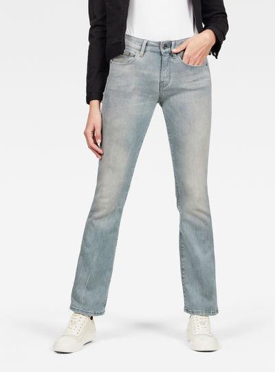 3301 Mid Waist Skinny Bootcut Jeans