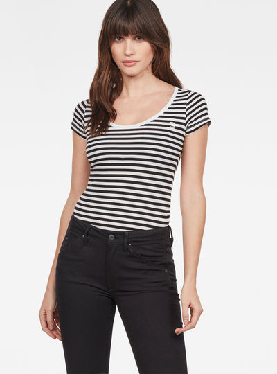 Basic Stripe Slim T-Shirt