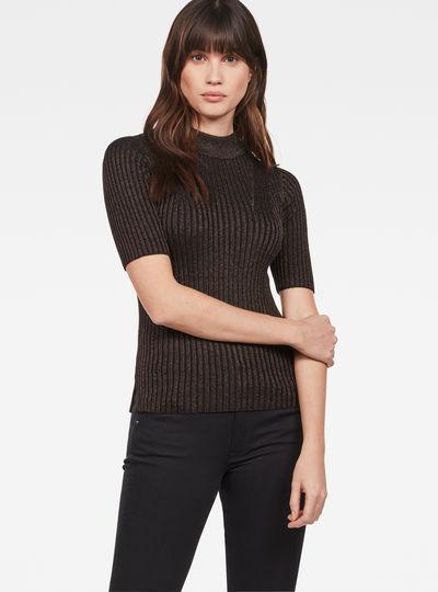Lynn Mock-Turtle Knit