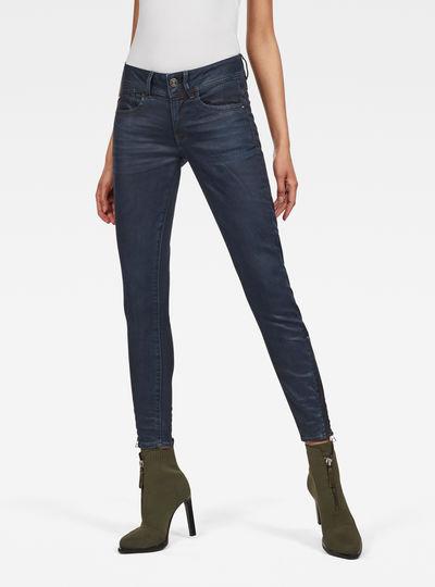 Lynn Mid Waist Skinny Zip Ankle Jeans