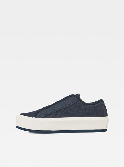 Strett Denim Lace Up Sneakers