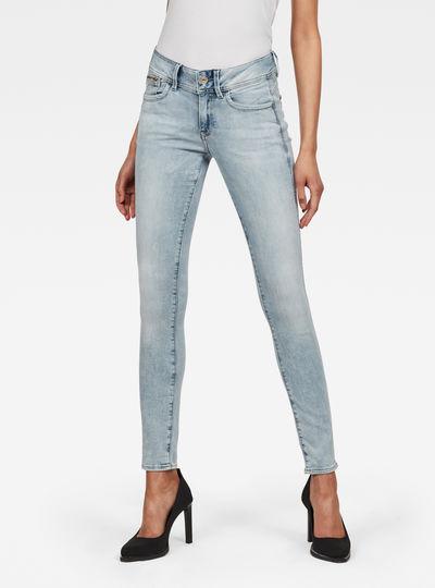 Lynn Zip-Pocket Mid Skinny Jeans