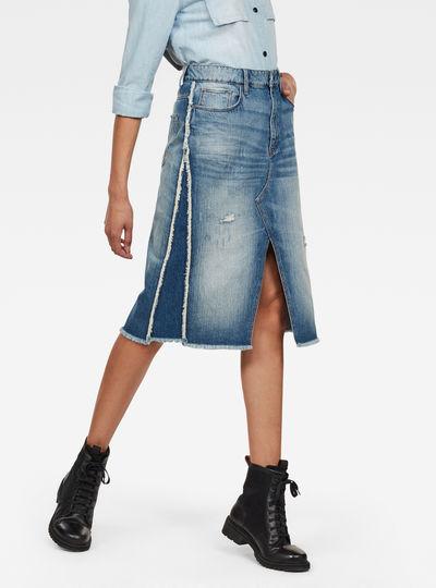3301 Fringe Midi Skirt