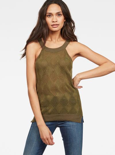Pointelle Tank Top knit