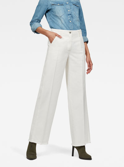Page High Wide Fringe Trousers