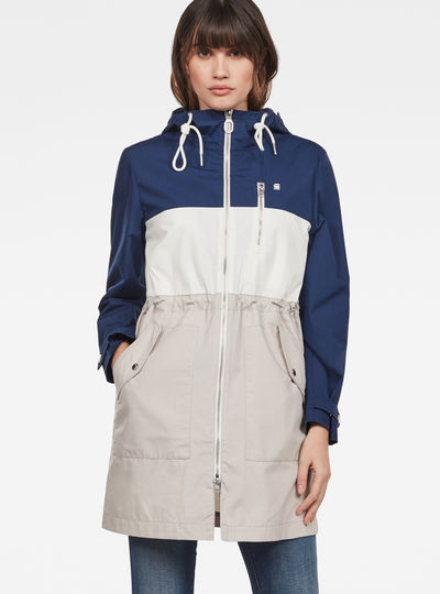 Duty Straight Color Block Parka